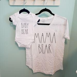 Rae Dunn Mama & Baby Bear Matching Set